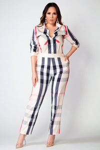 Berry Elegant Shirt and Pants Two Piece Set