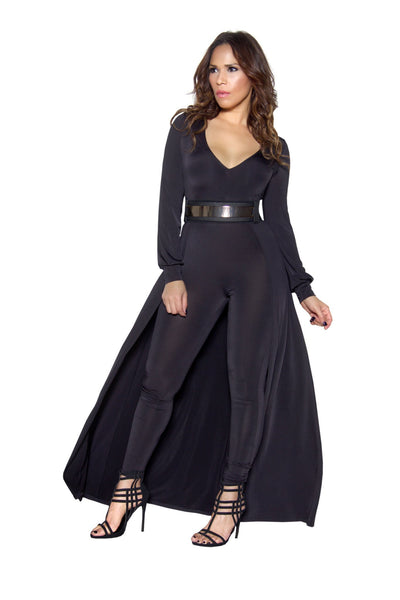 Black Long Sleeve Maxi Bodycon Jumpsuit - MY SEXY STYLES  - 3