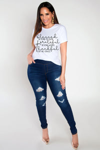 Blessed Beyond Reason Grateful Beyond Words For HIS Grace Unisex T-Shirt