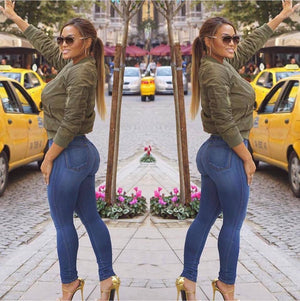 Butt Lifting Effect Slimming High Waisted Stretch Skinny Jeans