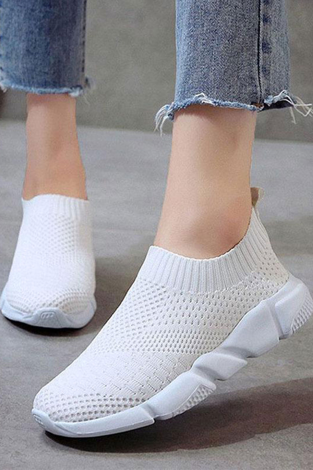 Flyknit Breathable Slip On Casual Sneakers