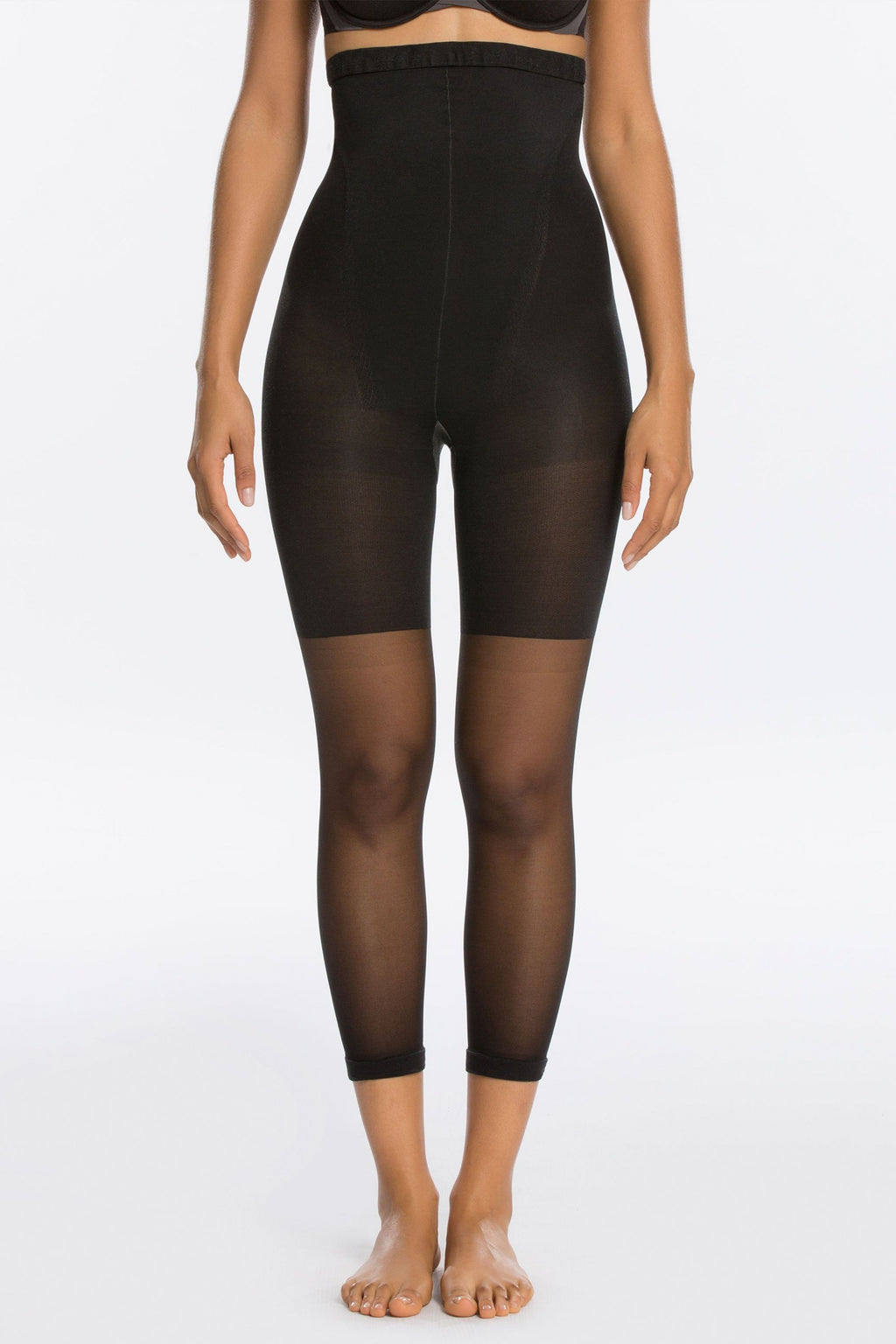 Celebrity Secret High Waist Capri Shapewear For Pants in Black - MY SEXY STYLES