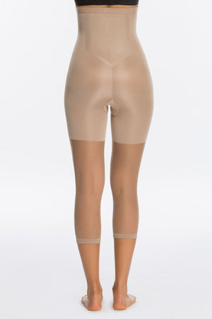 Celebrity Secret High Waist Capri Shapewear For Pants in Nude - MY SEXY STYLES