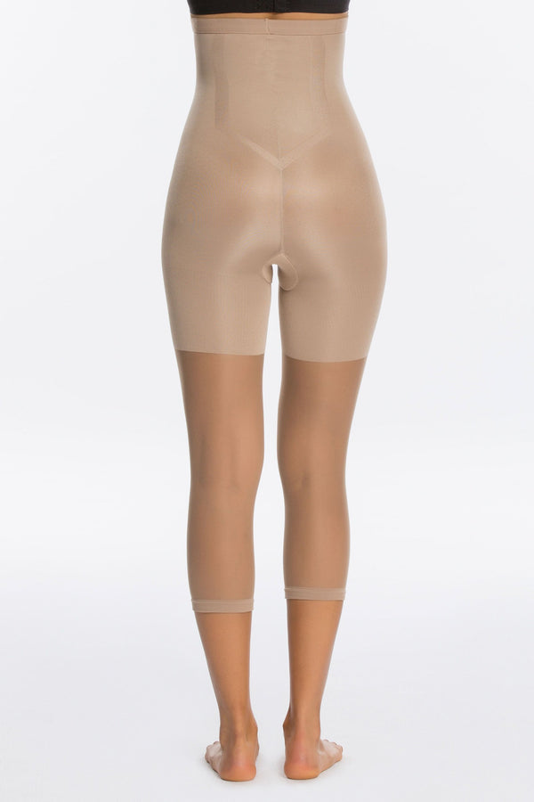 Celebrity Secret High Waist Capri Shapewear For Pants in Nude