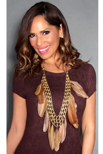 Chic Feather Necklace - MY SEXY STYLES