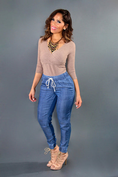 Chic High Waist Denim Pants - MY SEXY STYLES