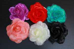 Chiffon Rose Hair Clip - MY SEXY STYLES
