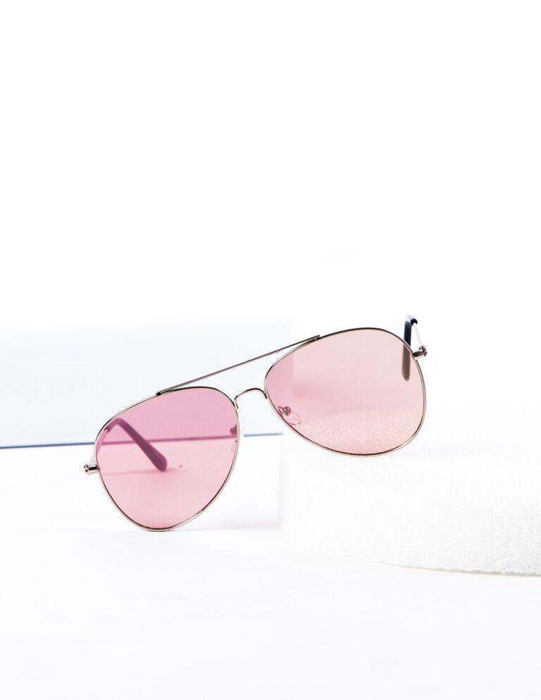 Classic Teardrop Metal Mirrored Flat Lens Aviator Sunglasses - Pink - MY SEXY STYLES
