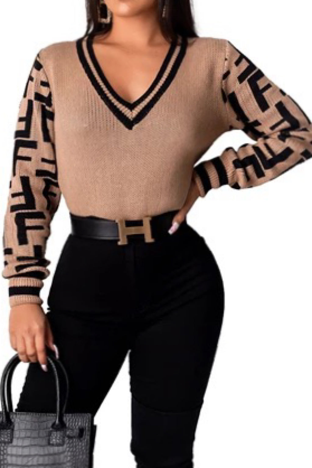 Fiona Long Sleeves Sweater Blouse