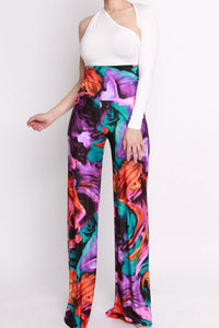 Jenna Multi Printed High Waisted Palazzo Pants