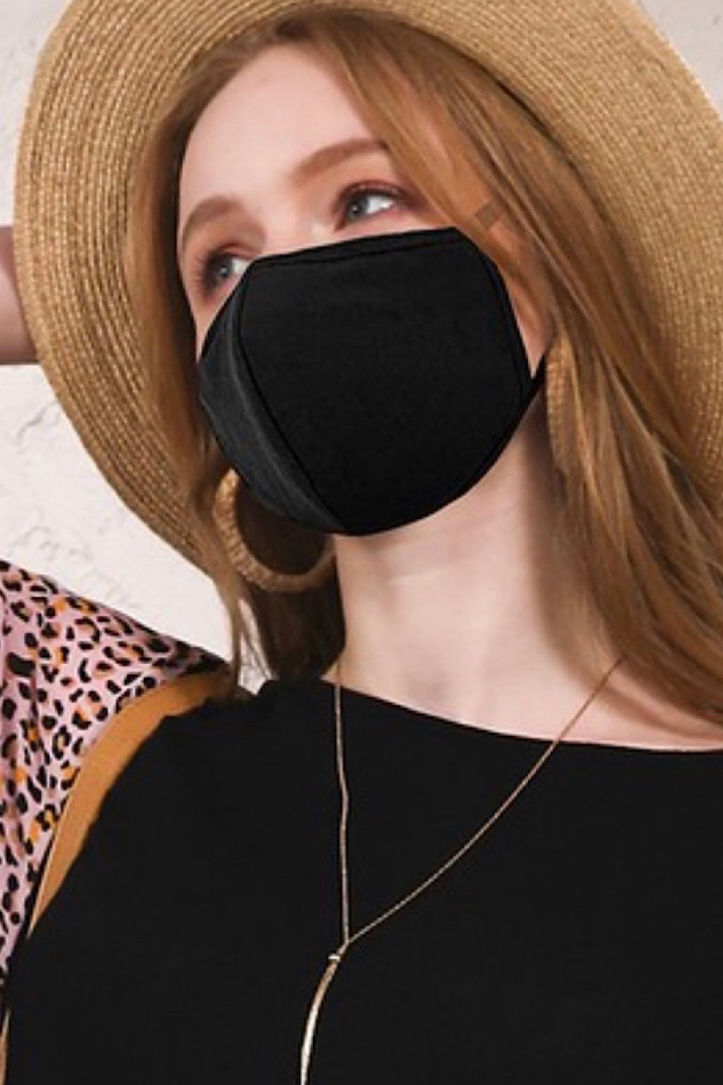 Reusable Washable Breathable Fabric Fashion Face Mask - Black