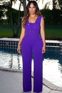 Florence Elegant Purple Wide Leg Jumpsuit