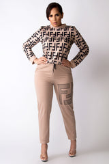 Frieda Long Sleeves Two Piece Pants Jogger Lounge Set