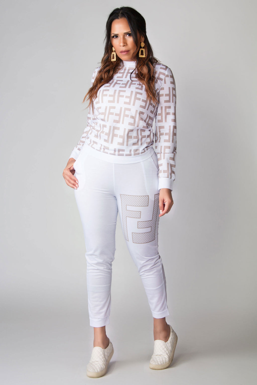 Frieda Long Sleeves Two Piece Pants Lounge Set
