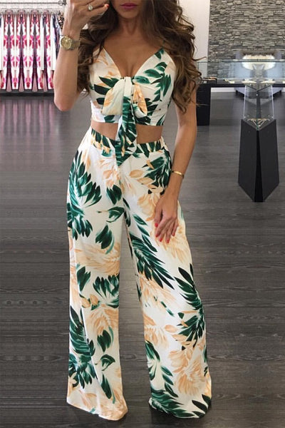 Green Paradise Top and Pants Set