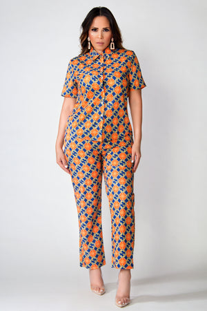 Greta Interlocking G Short Sleeve and Pants Set