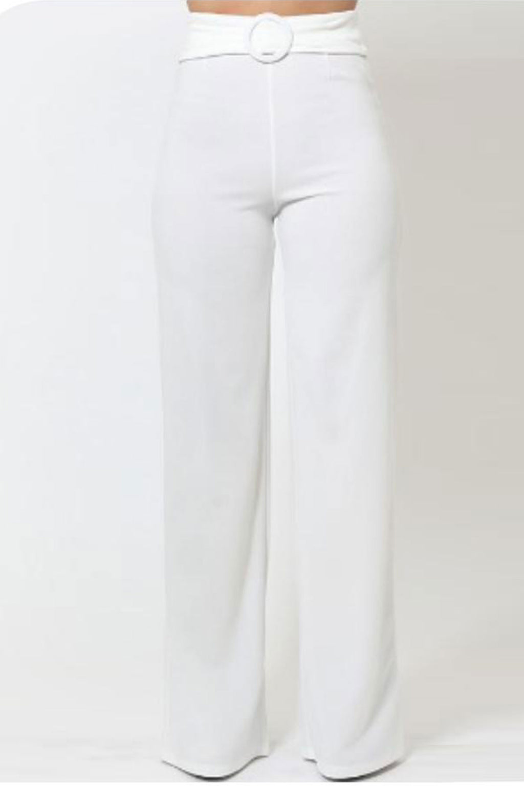Hailey Circle Buckle Belt High Waist Pants