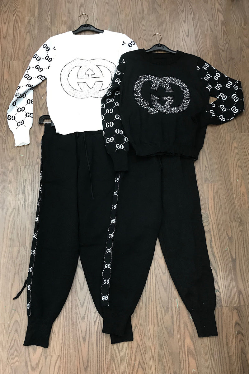 Gretchen Interlocking GG Two Piece Jogger Set