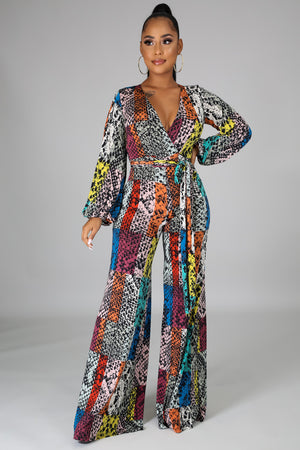 Everlee Multicolor Print Jumpsuit