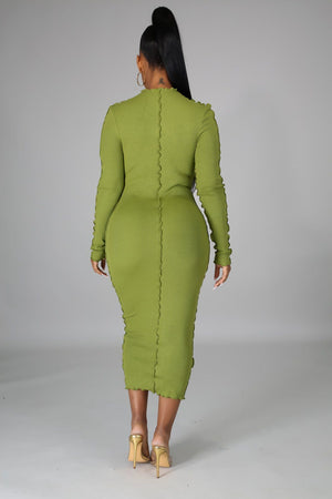Janine Long Sleeves Bodycon Midi Dress