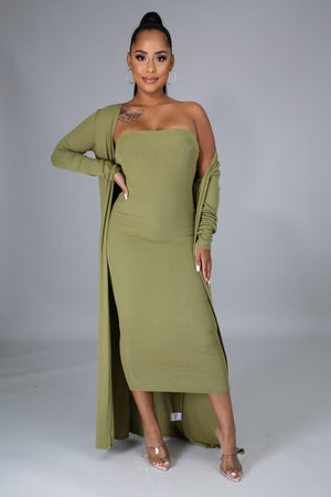 Margot Tube Dress and Cardigan Set