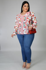 Clara Floral Long Sleeves Blouse