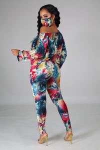 Talia Multicolor Print 3 Piece Pant Set