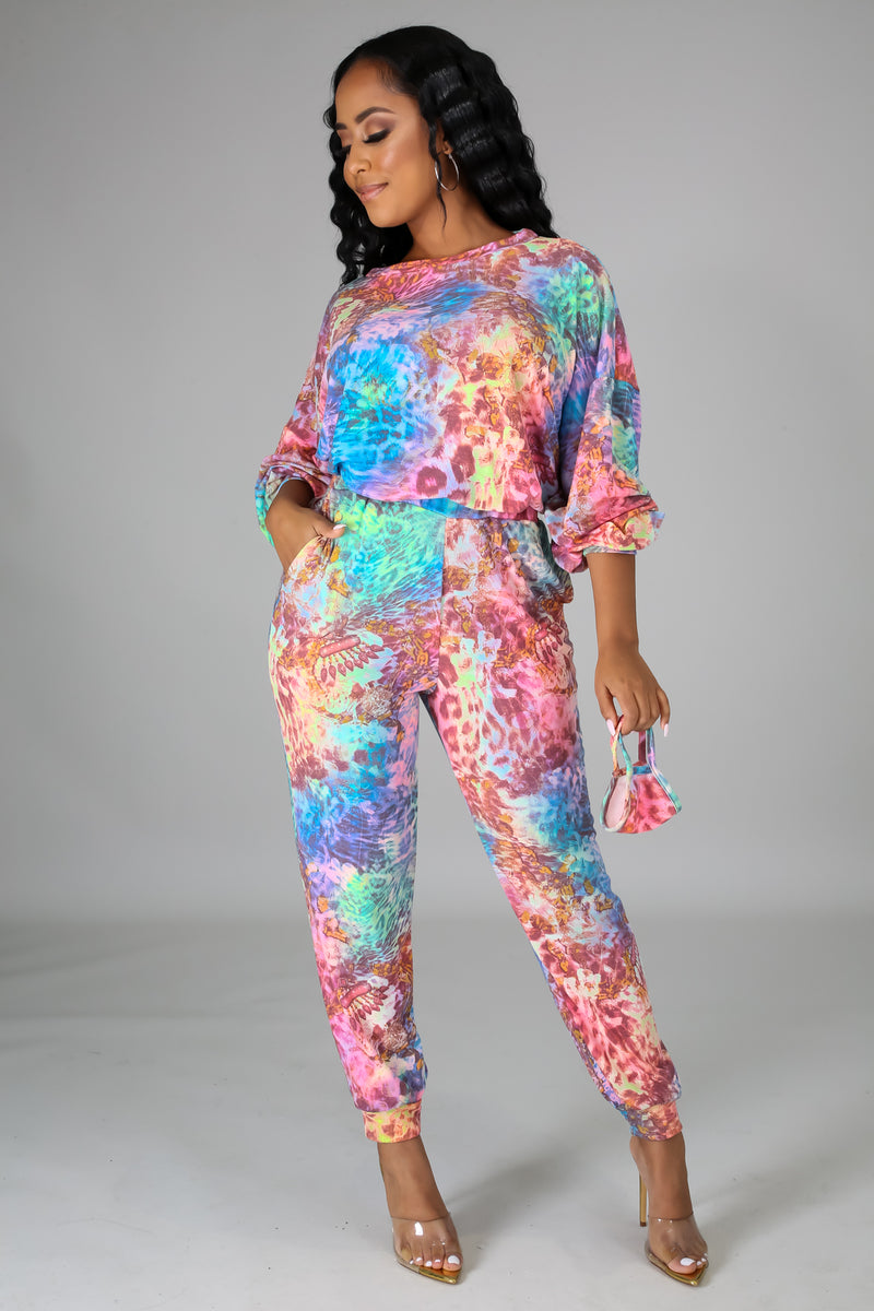 Felicity Multicolor Print 3 Piece Pant Set