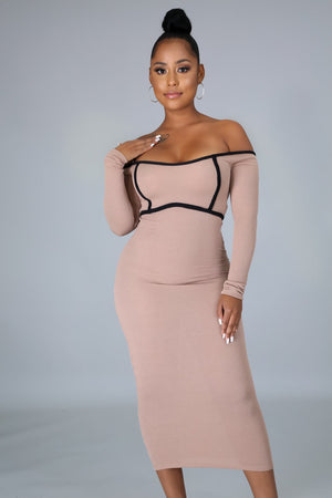 Harley Sexy Off The Shoulders Midi Dress