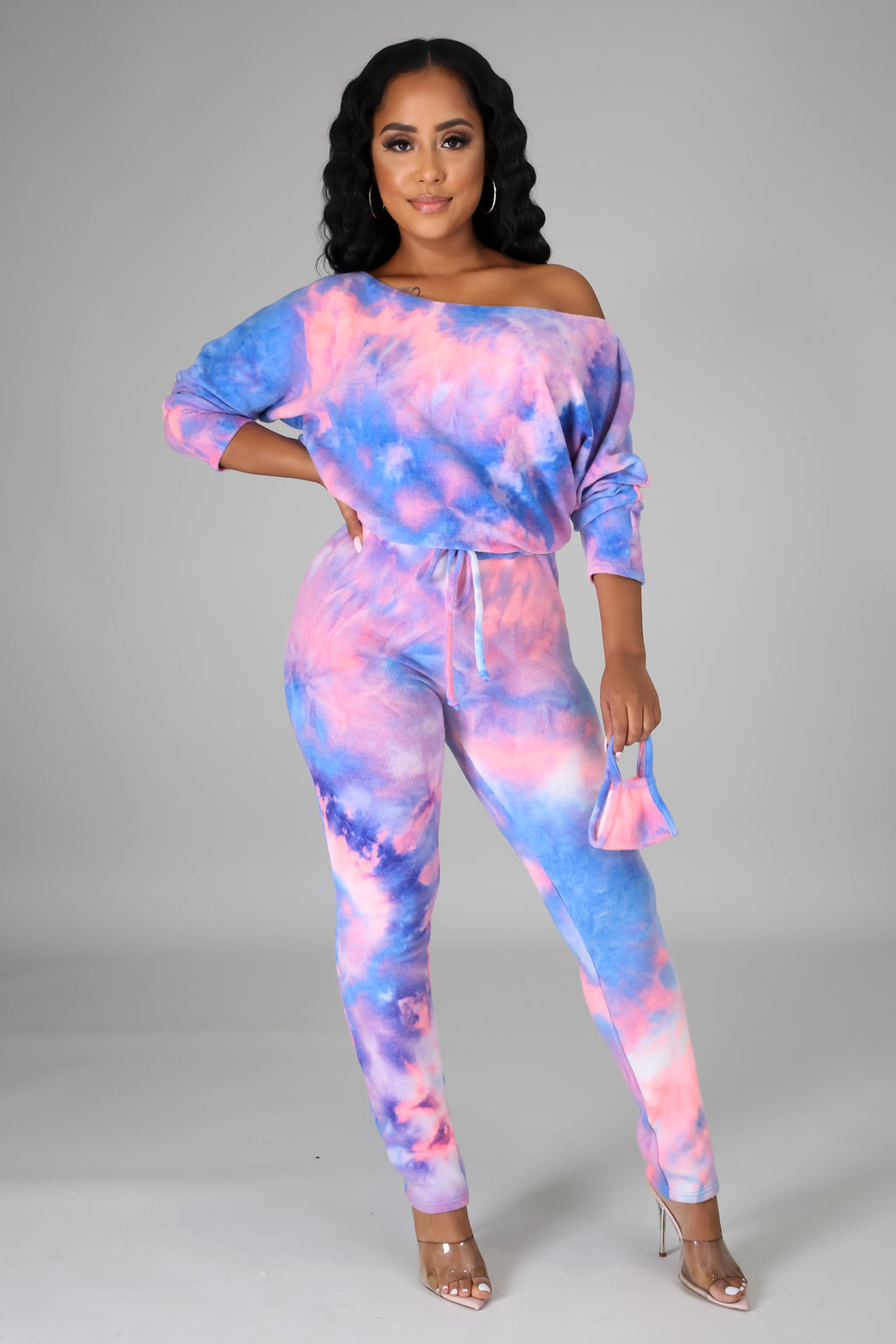 Octavia Multicolor Jumpsuit and Mask Set