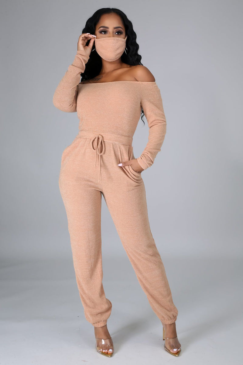 Noele Off The Shoulder Jumpsuit Set