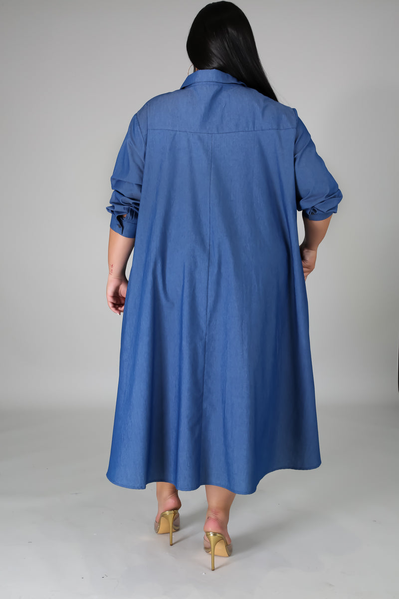 June Plus Size Denim Dress