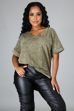Clarissa High Low Short Sleeve Blouse