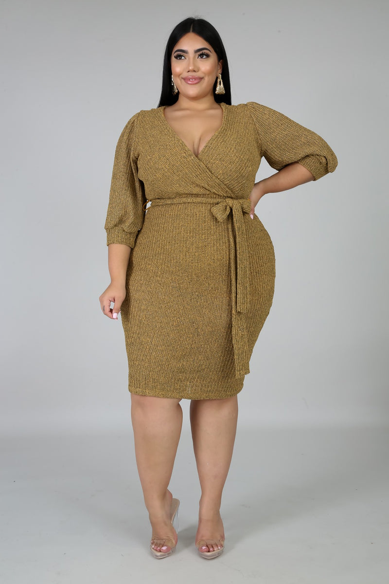 Daniella V-Neck Plus Size Date Night Dress