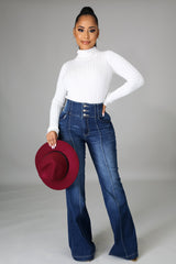 Lola High Waisted Bell Bottom Jeans