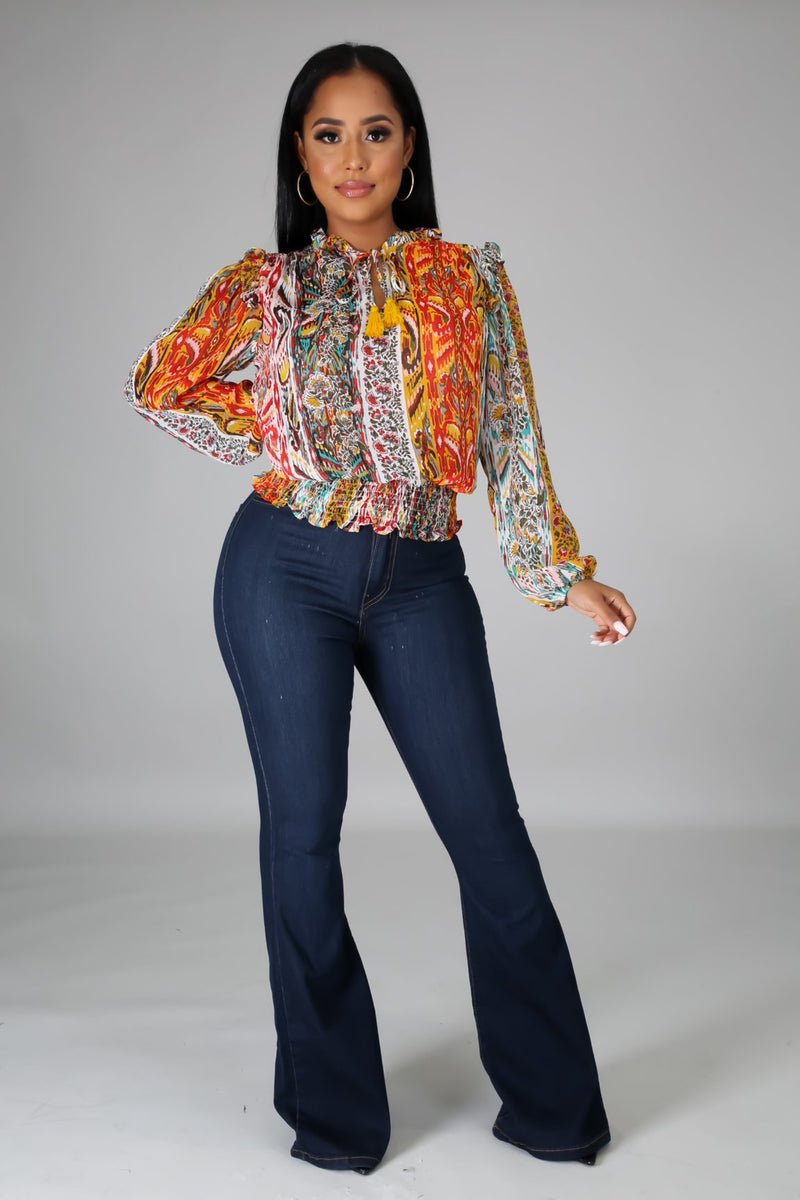 Zaria Elegant Long sleeves Top