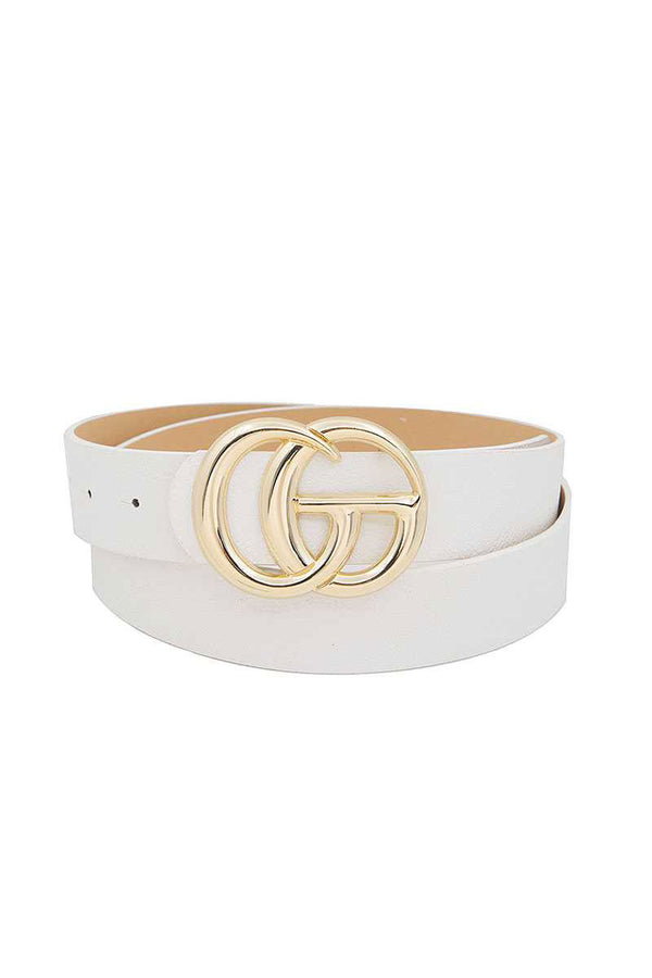 Pants Interlocking Shiny GG Buckle Belt
