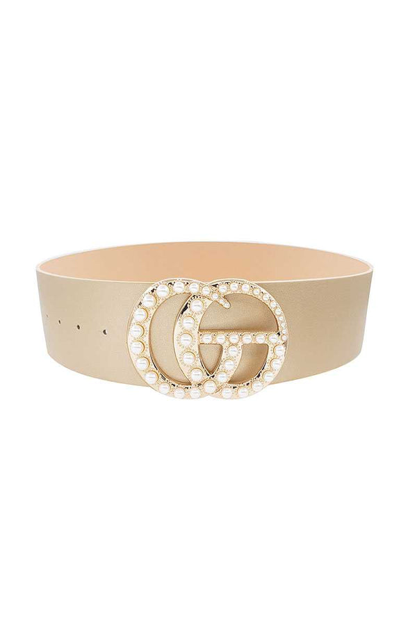 Interlocking GG Oversized Multi Pearl Fashion Belt