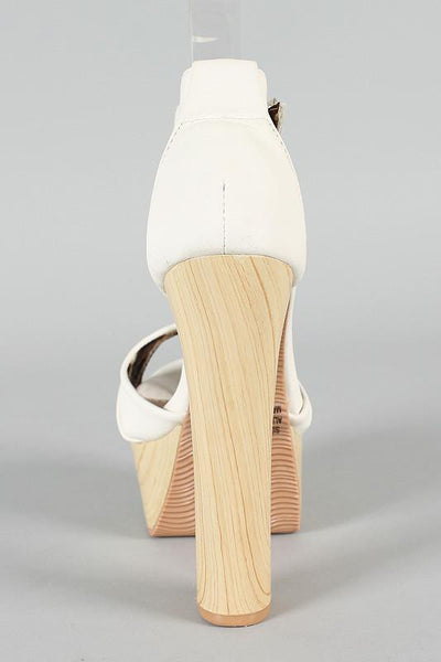 Ivory Hippie Platform Shoes - MY SEXY STYLES  - 2