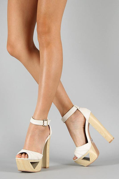 Ivory Hippie Platform Shoes - MY SEXY STYLES  - 1