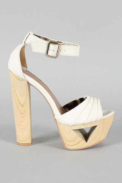 Ivory Hippie Platform Shoes - MY SEXY STYLES  - 3