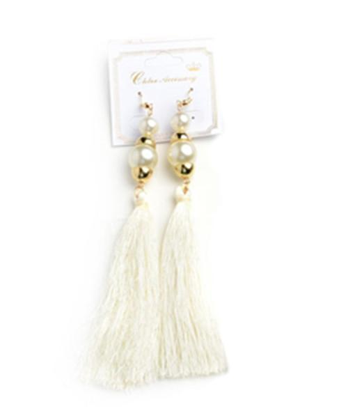 Ivory Pearl Tassel Drop Earrings - MY SEXY STYLES