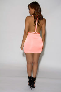 Jainmy's Multiway Convertible Wrap Mini Dress in Blush - MY SEXY STYLES