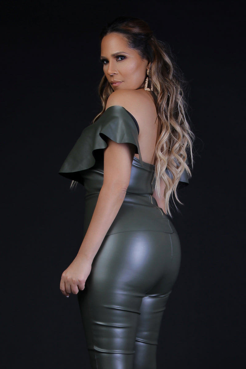 Kitty Two Piece Set Olive