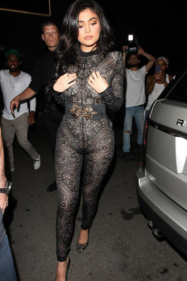 Kylie Jenner Inspired Belted Jumpsuit - MY SEXY STYLES  - 1