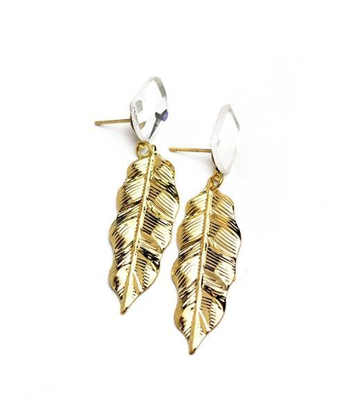 LEAF SHAPE EARRINGS