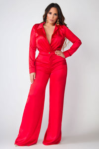 Lady in Red Sophisticated Boutique Two Piece Set