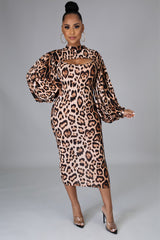 Laila Animal Print Dress Top Set