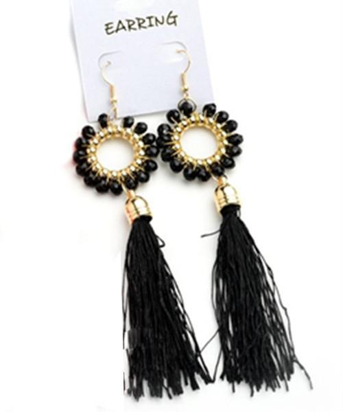Black Luna Earrings