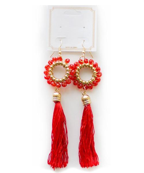 Red Luna Earrings